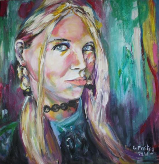 MIRJETA   2011, Öl auf Leinwand, 70 x 70 cm