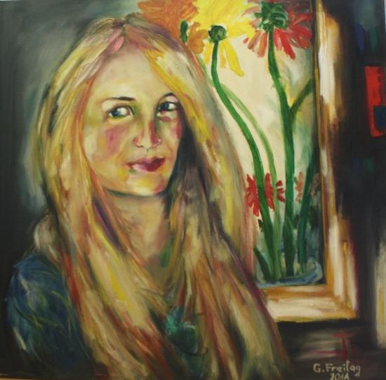 MIRJETA | 2011, Öl auf Leinwand, 70 x 70 cm