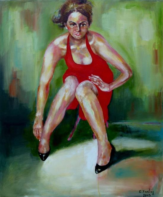 KETI BERISHA | 2013, Öl auf Leinwand, 100 x 120 cm