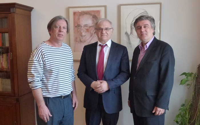Gazmend Freitag, Roland Bimo - Ambassador, John Fox - Journalist