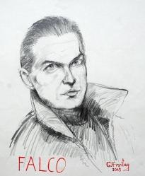 FALCO (20140.6 x 50.8 cm, Bleistift auf Papier
