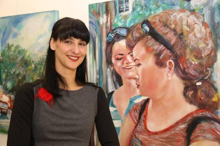 Nikola Tromayer-Trefalt bei der Vernissage von Gazmend Freitag in der SVA Wien, Kunstplatz 2015 am 22.10.2015