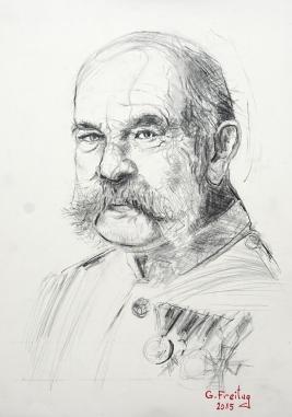 Franz Josef I. Kaiser von Österreich (2015),59,4 x 42 cm, Bleistift auf Papier