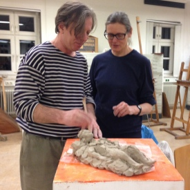 Gazmend Freitag mit Frau Mag. Annelies Oberdanner, Kunstuniversität Linz 13.03.2014