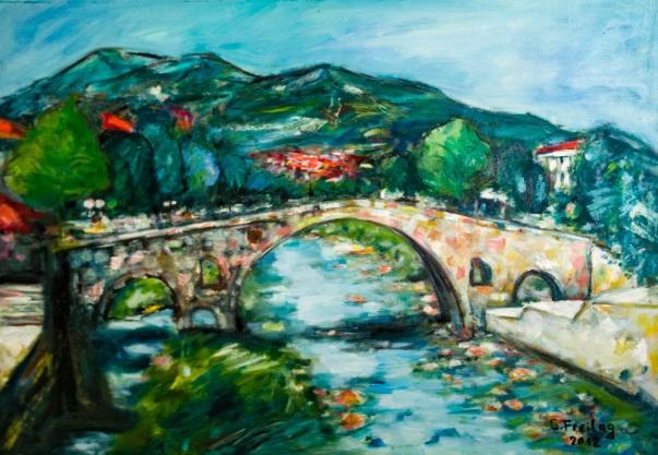 Steinbrücke in Prizren von Gazmend Freitag, 2013. Privatsammlung