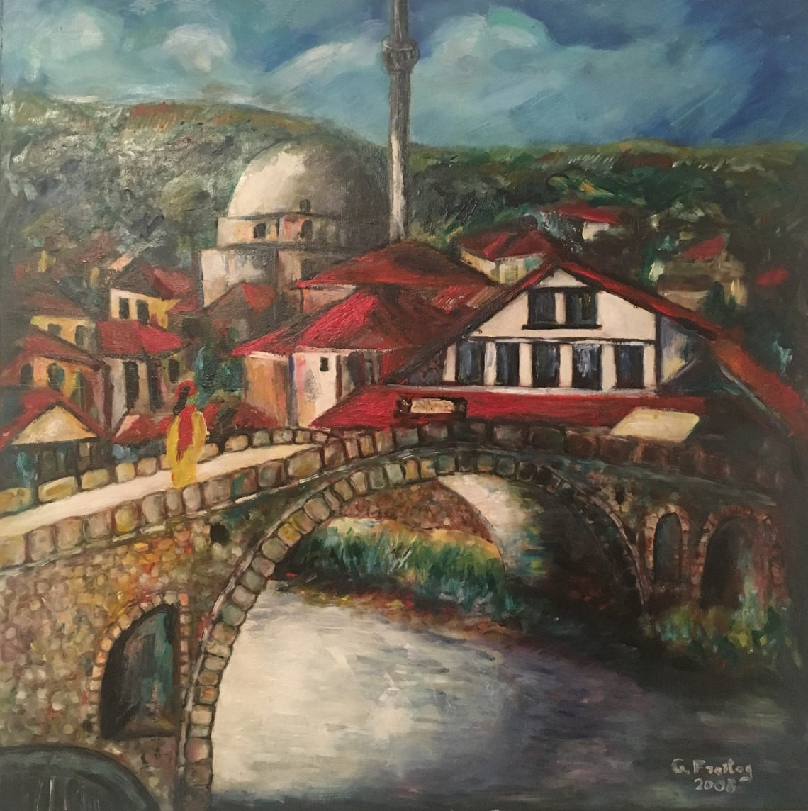 Steinbrücke in Prizren 1 by Gazmend Freitag, 2008