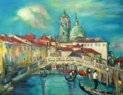 Scalzi Brücke in Venedig by Gazmend Freitag, 2012. Privatsammlung