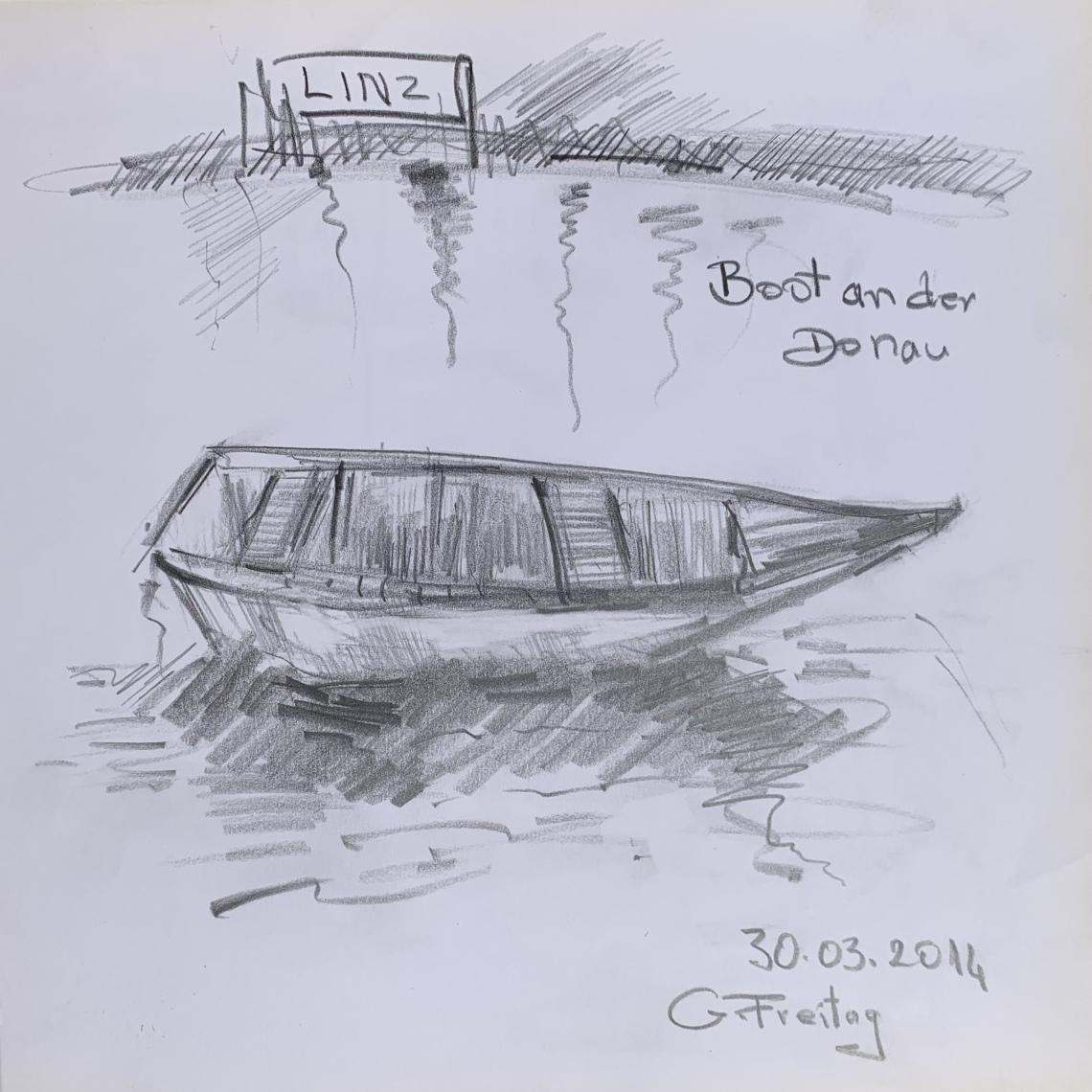Bot an der Donau