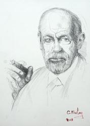 Sigmund Freud (2015), 59,4 x 42 cm, Bleistift auf Papier