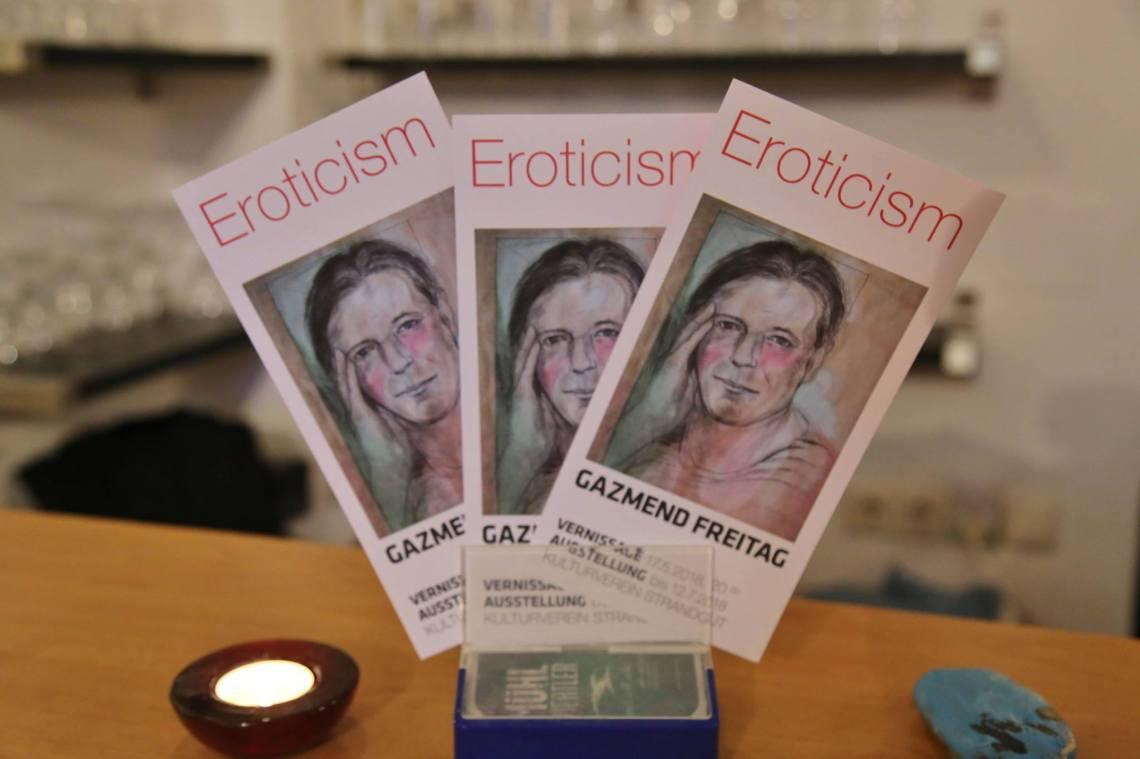Flayer Gazmend Freitag - Eroticism. Photo: Robert Rieger