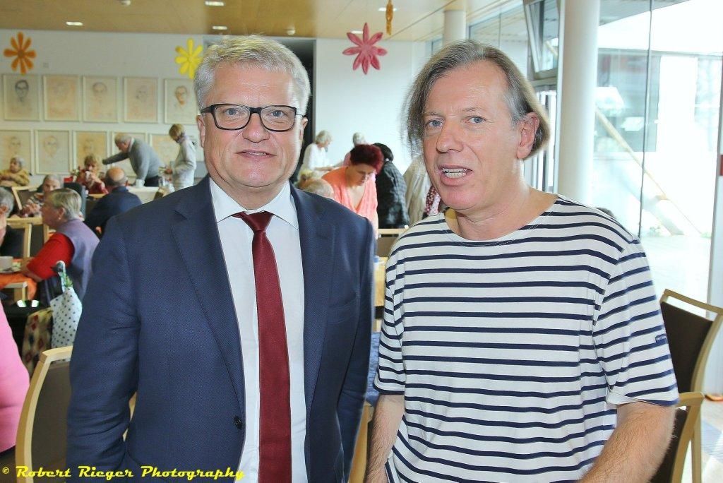 Gazmend Freitag, Bürgermeister Klaus Luger, 25.10.2019, Seniorenzentrum Franz Hillinger