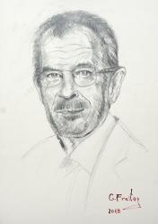 Alexander Van der Bellen (2018), 59,4 x 42 cm, Bleistift auf Papier