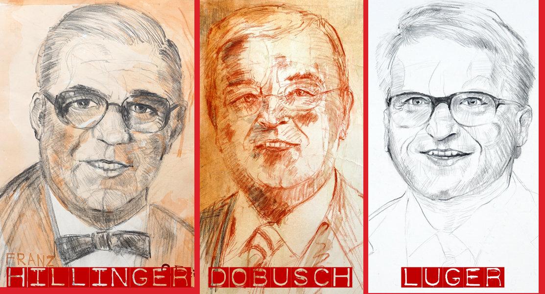 Drei Bürgermeister der Stadt Linz